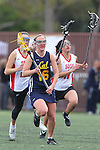 Santa Barbara, CA 02/19/11 - Claire Shannon (San Diego State #24) and Heather Ullrich (UC Berkeley #16) in action during the San Diego State - Cal Berkeley game at the 2011 Santa Barbara Shootout.
