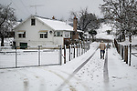A rare late autumn snowfall covers the Sierra Foothill town of Jackson, Calif.<br /> <br /> Cuneo ranch<br /> <br /> Victor