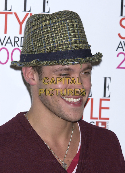 WILL YOUNG.Elle Style Awards 2005,.Spitalfields Market, London, .February 15th 2005..portrait headshot green hat.Ref: PL.www.capitalpictures.com.sales@capitalpictures.com.©Capital Pictures.