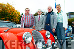 L-R Mike O'Connor, Gerard Landers, Paul Horan and Sue Hook about to take part in the Kingdom Veteran, Vintage&Classic Car Club Annual Autumn run based in the Kenmare Bay Hotel last Saturday.