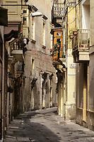Vittoriosa, Birgu, Malta.  Hilda Tabone Street, Residential Area.