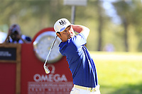 Hideto Tanihara (JPN) tees off the 6th tee during Sunday's Final Round 4 of the 2018 Omega European Masters, held at the Golf Club Crans-Sur-Sierre, Crans Montana, Switzerland. 9th September 2018.<br /> Picture: Eoin Clarke | Golffile<br /> <br /> <br /> All photos usage must carry mandatory copyright credit (&copy; Golffile | Eoin Clarke)
