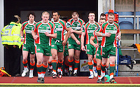 PICTURE VAUGHN RIDLEY/SWPIX.COM - Rugby League - Carnegie Challenge Cup, 4th Round - Hunslet Hawks v Batley Bulldogs - South Leeds Stadium, England - 15/04/12 - Hunslet take to the pitch.
