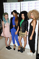 Neon Jungle arriving at James' Jog On To Cancer Event, Kensington Roof Gardens, London. 09/04/2014 Picture by: Alexandra Glen / Featureflash