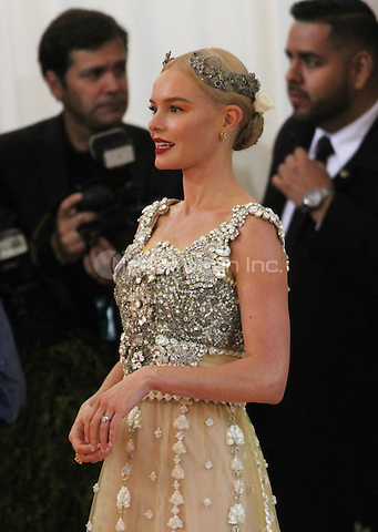 05 02 2016: Kate Bosworth at Manus X Machina: Fashion In An Age of Technology at Metropolitan Museum of Art in New York. Credit:RWMediaPunch