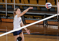 Florida International University women's volleyball player Marija Prsa (10) plays against Florida Atlantic University.  FIU won the match 3-0 on October 26, 2011 at Miami, Florida. .