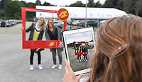 20190903 - LEUVEN , BELGIUM : illustration picture shows the red flames fan village during the female soccer game between the Belgian Red Flames and Croatia , the first womensoccer game for Belgium in the qualification for the European Championship round in group H for England 2021, Tuesday 3 th September 2019 at the King Power Stadion Den Dreef in Leuven , Belgium. PHOTO SPORTPIX.BE | DAVID CATRY