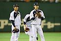 (L to R) <br /> Seiji Kobayashi, <br /> Hikaru Ito (JPN), <br /> NOVEMBER 14, 2014 - Baseball : <br /> 2014 All Star Series Game 2 <br /> between Japan and MLB All Stars <br /> at Tokyo Dome in Tokyo, Japan. <br /> (Photo by YUTAKA/AFLO SPORT)[1040]