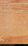 Fremont Culture Petroglyphs, Anthropomorph with Snakes, Fruita Petroglyph Panels, Capitol Reef National Park, South-Central Utah