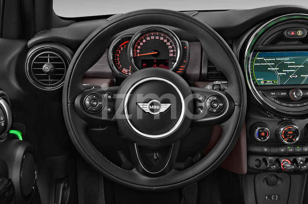 Car pictures of steering wheel view of a 2015 MINI Mini Cooper 5 Door Hatchback 2WD Steering Wheel