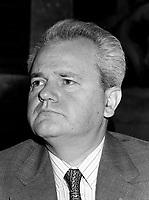 Slobodan Milosevic (Pozarevac 1941 - L'Aia 2006) è stato Presidente della Serbia e della Repubblica Federale di Jugoslavia e leader del Partito Socialista Serbo (SPS).<br /> Tra I protagonisti politici delle guerre nella ex-Jugoslavia, accusato di crimini contro l'umanità per le operazioni di pulizia etnica dell'esercito jugoslavo in Croazia, Bosnia e Kosovo. Condannato dal Tribunale de L'Aja è morto in carcere. <br /> Slobodan Milosevic (Pozarevac 1941 - The Hague 2006) was President of Serbia and the Federal Republic of Yugoslavia and leader of the Socialist Party of Serbia (SPS).<br /> Among the political actors of the wars in the former Yugoslavia, accused of crimes against humanity for acts of ethnic cleansing of the Yugoslav army in Croatia, Bosnia and Kosovo. Condemned by the Court of The Hague has died in prison. <br /> Photo Livio Senigalliesi