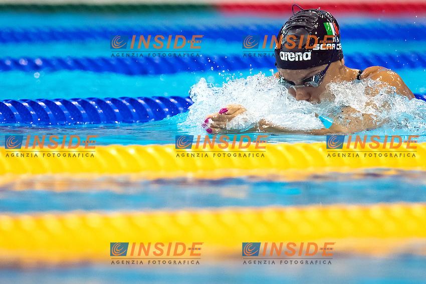 Ilaria SCARCELLA ITA <br /> 200m Breaststroke Preliminary <br /> London, Queen Elizabeth II Olympic Park Pool <br /> LEN 2016 European Aquatics Elite Championships <br /> Swimming<br /> Day 11 19-05-2016<br /> Photo Andrea Staccioli/Deepbluemedia/Insidefoto