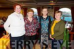 Shiela Aherne (Castleisland), Mary Ann Healy (Currow), Nora O'Connor (Castleisland) and Mary O'Connor (Currow) attending the Sliabh Luachra Active Retired NetworkTea Dance in the River Island Hotel in Castleisland on Sunday