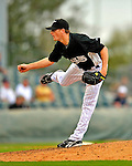 1 March 2009: Florida Marlins' pitcher Tim Wood on the mound during a Spring Training game against the St. Louis Cardinals at Roger Dean Stadium in Jupiter, Florida. The Cardinals outhit the Marlins 20-13 resulting in a 14-10 win for the Cards. Mandatory Photo Credit: Ed Wolfstein Photo