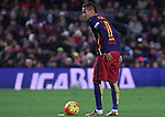 17.01.2016 Camp Nou, Barcelona, Spain. La Liga day 20 march between FC Barcelona and Athletic Club. Neymar takes shot on goal