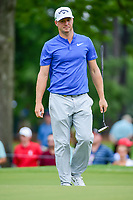 Alex Noren (SWE) after sinking his putt on 4 during Friday's round 2 of the PGA Championship at the Quail Hollow Club in Charlotte, North Carolina. 8/11/2017.<br /> Picture: Golffile | Ken Murray<br /> <br /> <br /> All photo usage must carry mandatory copyright credit (&copy; Golffile | Ken Murray)