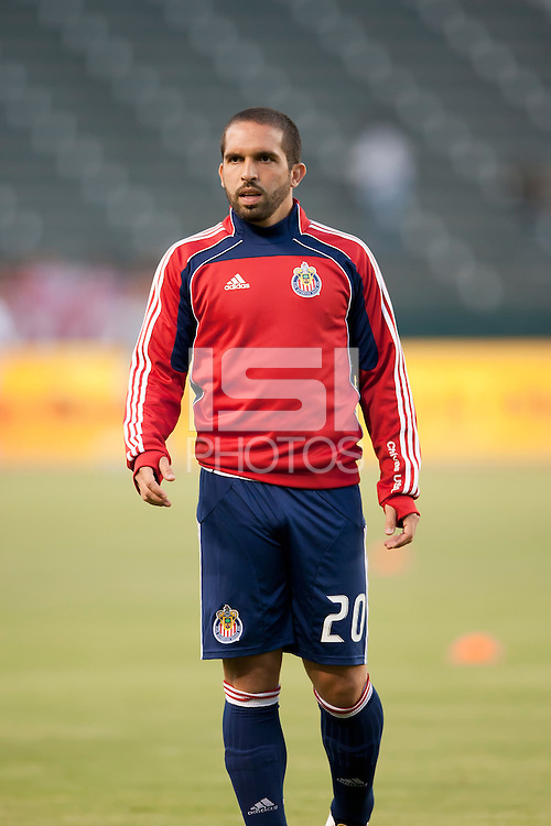 CARSON, CA – SEPTEMBER 10:  Chivas USA forward Giancarlo Maldonado (20) during warm-ups at Home Depot Center, September 10, 2010 in Carson California.