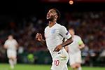 England's Raheem Sterling celebrates goal during UEFA Nations League 2019 match between Spain and England at Benito Villamarin stadium in Sevilla, Spain. October 15, 2018. (ALTERPHOTOS/A. Perez Meca)
