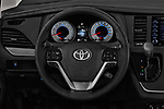 Car pictures of steering wheel view of a 2018 Toyota Sienna SE 5 Door Mini Van