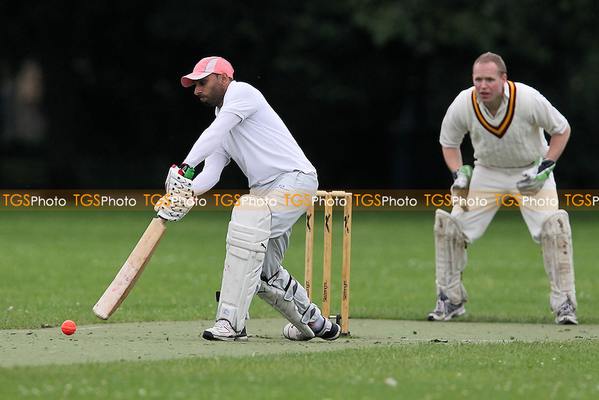 Tahweed CC (batting) vs Bengal Tigers CC - Victoria Park Community Cricket League at Victoria Park, London - 09/07/12 - MANDATORY CREDIT: Gavin Ellis/TGSPHOTO - Self billing applies where appropriate - 0845 094 6026 - contact@tgsphoto.co.uk - NO UNPAID USE.
