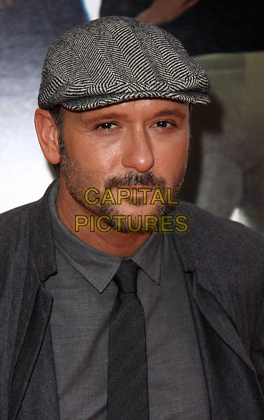 "TIM McGRAW .At the New York City Premiere of ""The Blind Side"" held at the Ziegfeld Theater, New York, NY, USA, .17th November 2009..portrait headshot grey gray hat cap tie beard facial hair shirt soul patch .CAP/ADM/PZ.©Paul Zimmerman/AdMedia/Capital Pictures."