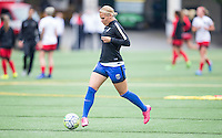 Seattle, Washington - Saturday May 14, 2016:  Seattle Reign FC forward Merritt Mathias (9) during warmups at Memorial Stadium on Saturday May 14, 2016 in Seattle, Washington. The match ended in a 1-1 draw
