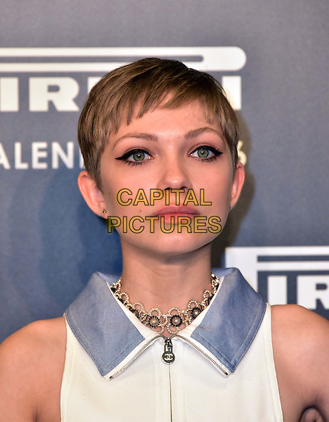 LONDON, ENGLAND - NOVEMBER 30: Tavi Gevinson at a photocall for the launch of the 2016 Pirelli calendar in London on November 30, 2015<br /> CAP/JOR<br /> &copy;JOR/Capital Pictures