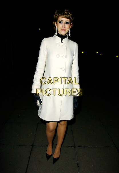 "CONNIE FISHER.At the ""Dreamgirls"" Film Premiere After Party, Hayward Gallery, London, England, January 21st 2007..full length white cream coat.CAP/CAN.©Can Nguyen/Capital Pictures"