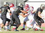 Palos Verdes, CA 10/21/16 - Alex Bobb (Peninsula #88) and unidentified Redondo Union player(s) in action during the CIF Southern Section Bay League Redondo Union - Palos Verdes Peninsula game at Peninsula High School.