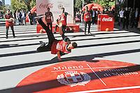 - Milano, ottobre 2016, il padiglione della Coca Cola all'Expo 2015 donato alla citt&agrave; e  ricostruito nei giardini di via La Spezia, periferia sud, come campo coperto di pallavolo.<br /> <br /> - Milan, October 2016, the Coca Cola pavilion at Expo 2015 donated to the city and rebuilt in the gardens of La Spezia street, southern suburbs, as volleyball indoor playground.