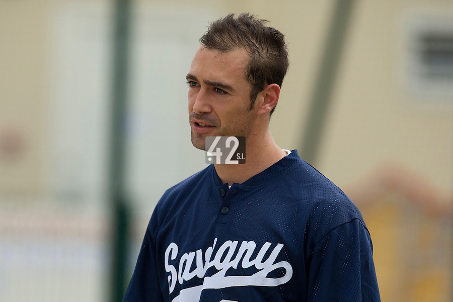 21 May 2009: Jerome Rousseau looks dejected during the 2009 challenge de France, a tournament with the best French baseball teams - all eight elite league clubs - to determine a spot in the European Cup next year, at Montpellier, France.