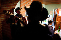 Mariachi players entertain a dining crowd at Casa Margarita hostel in Creel, Mexico, Saturday, June 21, 2008. The hostel offers to meals, double bedrooms, dorm style rooms with bunk beds, and a variety of tourist activities including guides, bicycles, and hiking...PHOTOS/ MATT NAGER