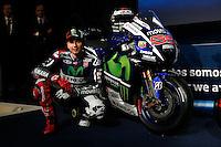 Movistar Yamaha MotoGP host 2015 team launch in Madrid. In the pic: Jorge Lorenzo. January 28, 2015. (ALTERPHOTOS/Caro Marin) /nortephoto.com<br /> nortephoto.com