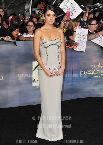 """Nikki Reed at the world premiere of her movie """"The Twilight Saga: Breaking Dawn - Part 2"""" at the Nokia Theatre LA Live..November 12, 2012  Los Angeles, CA.Picture: Paul Smith / Featureflash"""