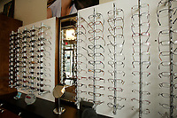 2005 file photo- model released - display of eyeglasses in a store