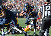 BERKELEY, CA - October 31, 2015: The Cal Bears Football team vs the USC Trojans at California Memorial Stadium in Berkeley, CA.  Final score, Cal Bears 21, USC Trojans 27.