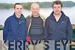 Conor O'Sullivan, Padraig Coffey and Shane O'Sullivan enjoying the annual Beaufort GAA boat trip and walk from Ross Castle, Killarney on Sunday.