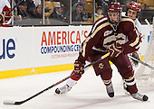Adam Gilmour (BC - 14), Ahti Oksanen (BU - 2) - The Boston College Eagles defeated the Boston University Terriers 3-1 (EN) in their opening round game of the 2014 Beanpot on Monday, February 3, 2014, at TD Garden in Boston, Massachusetts.