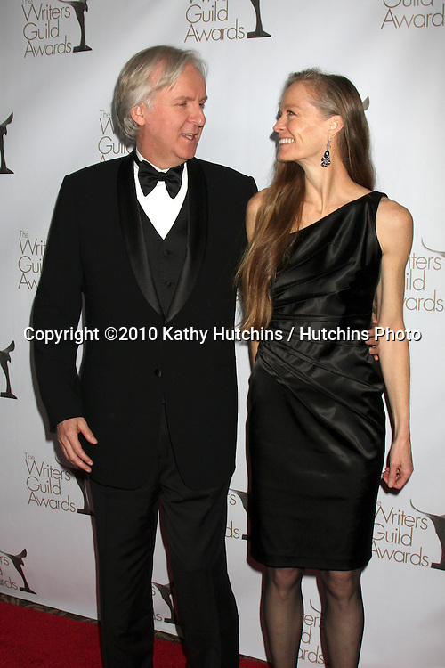 James Cameron & Suzy Amis.arriving at 2010 Writers Guild of America Awards.Century Plaza Hotel.Century City, CA.February 20, 2010.©2010 Kathy Hutchins / Hutchins Photo....
