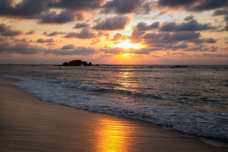 Sunset on beach. Punta Mita, Mexico
