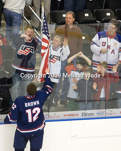 Chris Brown (US - 12) - The US defeated Russia 5-0 in the 2009 World Under 18 Championship gold medal game at the Urban Plains Center in Fargo, North Dakota, on Sunday, April 19, 2009.