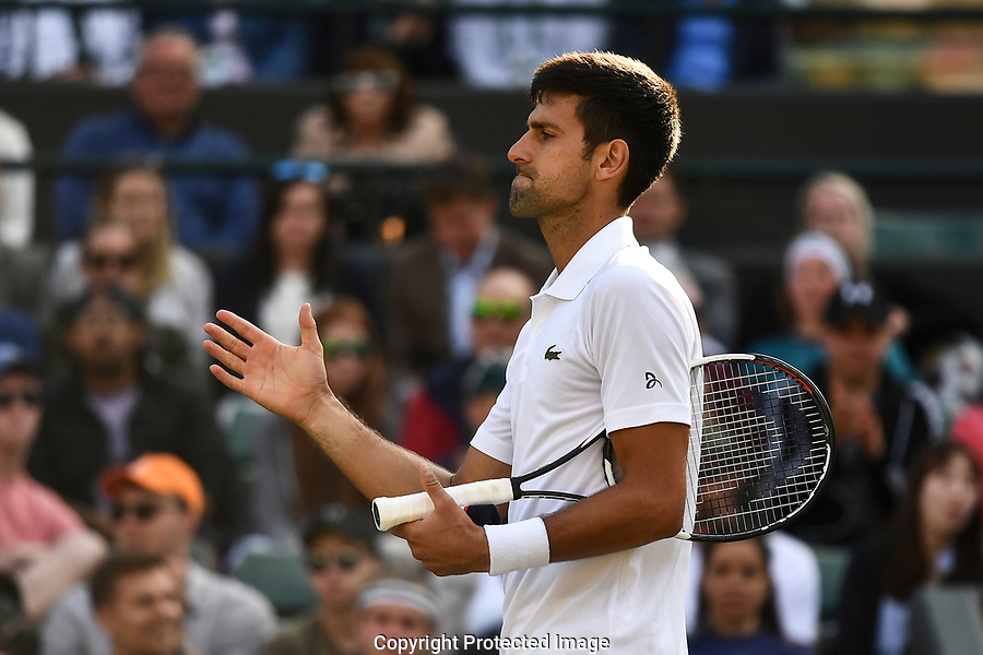 Novak Djokovic (SRB) retires from his match against Tomas Berdych (CZE)