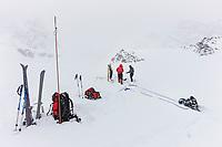 Mountaineering instruction on the ruth glacier, Alaska Range mountains, Interior, Alaska.