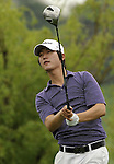 SUZHOU, CHINA - APRIL 18:  Kim Do-hoon of Korea tees off on the 7th hole during the Round Four of the Volvo China Open on April 18, 2010 in Suzhou, China. Photo by Victor Fraile / The Power of Sport Images