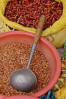 Local spices for sale, Fuli Village market, Yangshuo, China