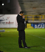 TUNJA -COLOMBIA, 02-07-2016. Harold Rivera director técnico de Patriotas FC.Acción de juego entre  Millonarios  y  Patriotas  FC durante encuentro  por la fecha 1 de la Liga Aguila II 2016 disputado en el estadio de  La Independencia./ Harold Rivera coach of Patriotas FC Action game between  of Millonarios and Patriotas FC during match for the date 1 of the Aguila League II 2016 played at La Independencia  stadium . Photo:VizzorImage / César Melgarejo   / Cont