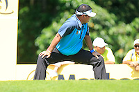 Prom Meesawat (THA) on the 7th tee during Round 3 of the Maybank Malaysian Open at the Kuala Lumpur Golf & Country Club on Saturday 7th February 2015.<br /> Picture:  Thos Caffrey / www.golffile.ie