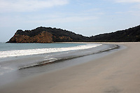 Beautiful and isolated Los Frailes Beach in Machalilla National Park. Coastal Ecuador.