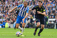 Glenn Murray of Brighton & Hove Albion (17)  during the Premier League match between Brighton and Hove Albion and Everton at the American Express Community Stadium, Brighton and Hove, England on 15 October 2017. Photo by Edward Thomas / PRiME Media Images.