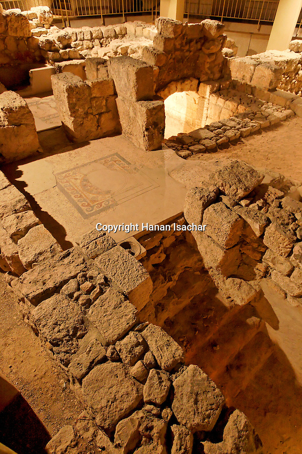 Jerusalem, Israel, Wohl Archaelogical Museum at the Jewish Quarter of the Old City, remains of a large residence in the Upper City at the Herodian period<br />